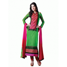 Green Flash AAFREEN PARTY WEAR GEORGETTE CHURIDAR SHALWAR SUIT