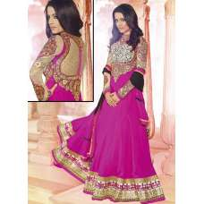 Pink AAFREEN PARTY WEAR GEORGETTE ANARKALI LONG DRESS