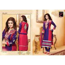 "Purple and Red AYESHA TAKIA ""BEGUM"" PARTY WEAR SHALWAR KAMEEZ"