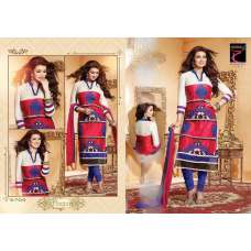 "White and Red AYESHA TAKIA ""BEGUM"" PARTY WEAR SHALWAR KAMEEZ"