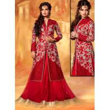 Red DIA MIRZA WEDDING WEAR ANARKALI SUITS