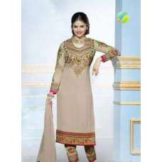 Beige KASEESH PRACHI-5 PARTY WEAR SHALWAR KAMEEZ