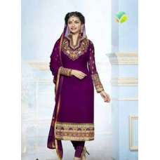 Purple with Golden KASEESH PRACHI-5 PARTY WEAR SHALWAR KAMEEZ