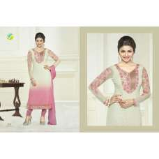 White Pink  KASEESH PRACHI-6 PARTY WEAR SHALWAR KAMEEZ