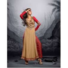 Gold and Red MAISHA MASKEEN ADDICTION Designer Shalwar Suit