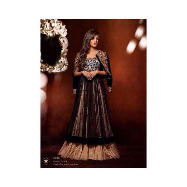 dab19dce73 Black Priyanka Chopra HEROINE Designer Dress