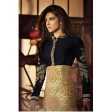 Gold and Black Priyanka Chopra HEROINE Designer Dress