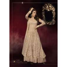 Gold CREAM ORIGINAL Priyanka Chopra HEROINE Lime Light Designer Dress