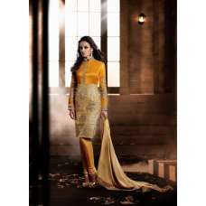 Yellow and Gold HEROINE Straight Cut Designer Dress (Ready Mae)