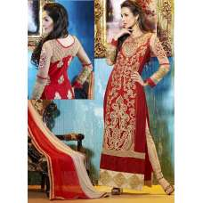 Red Malaika Arora Khan Party Wear Shalwar Kameez