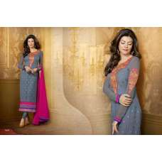 Grey Beautiful Sushmita Sen Pure Georgette Straight Suit