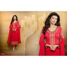 Red Sushmita Sen Pure Georgette Straight Suit