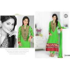 Green HEENARI PARTY WEAR GEORGETTE SHALWAR SUIT