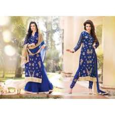 Blue Arjaan 3 Georgette Long Length Designer Dress