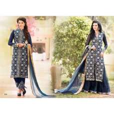 Dark Blue Arjaan 3 Georgette Long Length Designer Dress