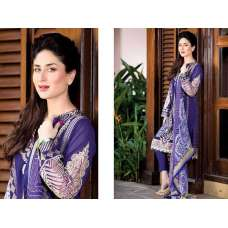 Faraz Manan Purple Lawn Crescent Summer Suit 2015