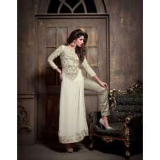 M2103 Off White DEBONAIR WITH MASKEEN WEDDING WEAR DESIGNER DRESS