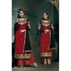 Red Lilly Fiona Long Length Party Wear Salwar Kameez