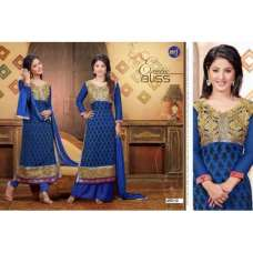Blue Golden HASEENA 2 PARTY WEAR SHALWAR KAMEEZ