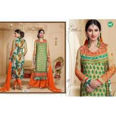 Orange and Green HASEENA 2 PARTY WEAR SHALWAR KAMEEZ