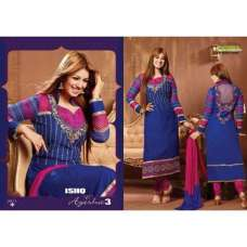 Blue and Pink AYESHA TAKIA PARTY WEAR ISHQ-E-AYESHA 3 SHALWAR KAMEEZ