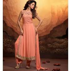 MSH180 Peach Echo MASKEEN BY MAISHA GEORGETTE SALWAR SUIT