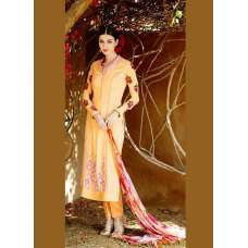 YELLOW AND PINK HEER 5005 STRAIGHT DRESS SUIT