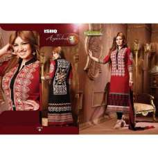Red and Black AYESHA TAKIA PARTY WEAR ISHQ-E-AYESHA 3 SHALWAR KAMEEZ