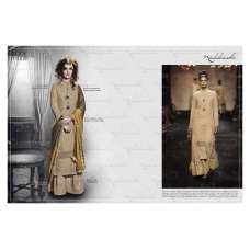 Biege Nakkashi Fall of Grace Designer Wear Dress