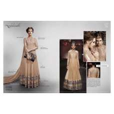 11012 - Gold FALL OF CHARM by Nakkashi Designer Wear Dress