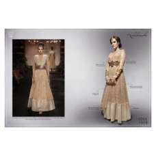 NK11016 - Beige FALL OF CHARM by Nakkashi Designer Wear Dress