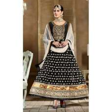 Black SHABANA BY SAINX DESIGNER WEAR ANARKALI