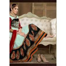 Light Blue and Black SHABANA BY SAINX DESIGNER WEAR ANARKALI
