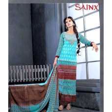 Limpet Shell blue SAJEELE BY SAINX PARTY WEAR SHALWAR KAMEEZ