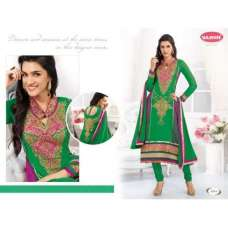 Green Flash and Purple KRITI SANON SUAVE DESIGNER WEAR ANARKALI
