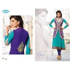 Limpet Shell Blue and Green KRITI SANON SUAVE DESIGNER WEAR ANARKALI
