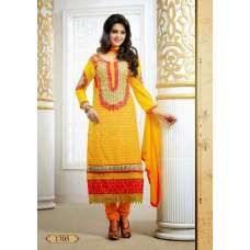 Yellow Tamanna 2 Georgette Long Length Salwar Kameez