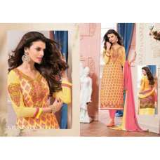 yellow Veera 3 GEORGETTE Casual Wear Salwar Kameez