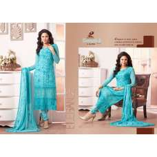 Blue ZEENAT 2 CASUAL WEAR CHIFFON SALWAR SUIT