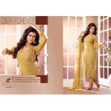Yellow ZEENAT 2 CASUAL WEAR CHIFFON SALWAR SUIT