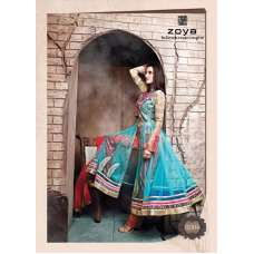 Limpet Shell Blue ZOYA SAPPHIRE WEDDING WEAR DESIGNER DRESS