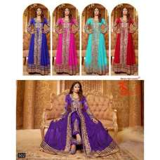 Purple BEAUTY FLOOR LENGTH DESIGNER WEAR DRESS