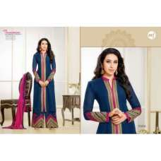 Blue KARISHMA KAPOOR  ELIZA 5 HEAVY EMBROIDERED PLAZZO SUIT