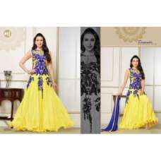BUTTERCUP YELLOW KARISHMA KAPOOR ELIZA 5 HEAVY EMBROIDERED DRESS
