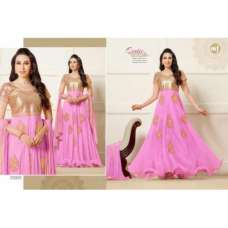 Pink and Gold KARISHMA KAPOOR ELIZA 5 HEAVY EMBROIDERED DRESS