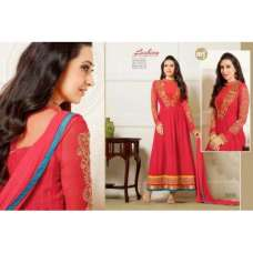 Red KARISHMA KAPOOR ELIZA 5 HEAVY EMBROIDERED DRESS