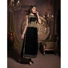 Black MASKEEN BY MAISHA DETAILED EMBROIDERED WINTER WEAR DESIGNER SUIT ( Replica)