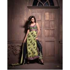 Green and Black Maskeen Senora By Maisha Party Wear Suit