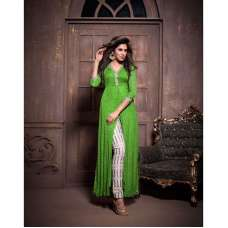 Green Flash Maskeen Anaya senora Embroidered Designer Dress