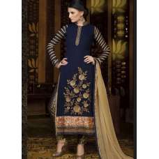 Mehak Blue Georgette Long Length Designer Dress